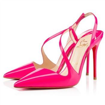 Christian Louboutin June 100mm Slingbacks Rose Matador