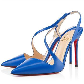 Christian Louboutin June 100mm Slingbacks Blue