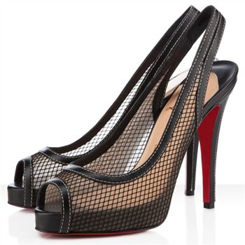 Christian Louboutin Canne A Peche 120mm Slingbacks Black