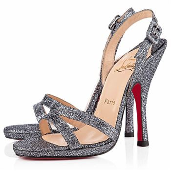 Christian Louboutin Fine Romance 120mm Slingbacks Grey