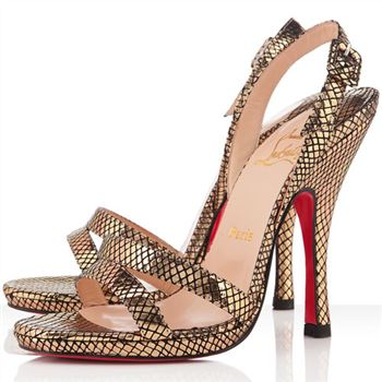 Christian Louboutin Fine Romance 120mm Slingbacks Gold