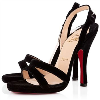 Christian Louboutin Fine Romance 120mm Slingbacks Black