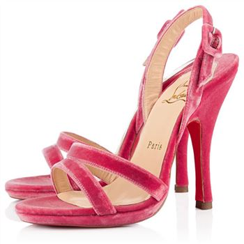 Christian Louboutin Fine Romance 120mm Slingbacks Rose Paris