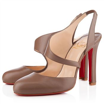 Christian Louboutin Atomic 100mm Slingbacks Taupe