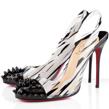 Christian Louboutin Epoca 100mm Slingbacks Black/White