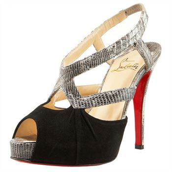 Christian Louboutin Angela 120mm Slingbacks Black