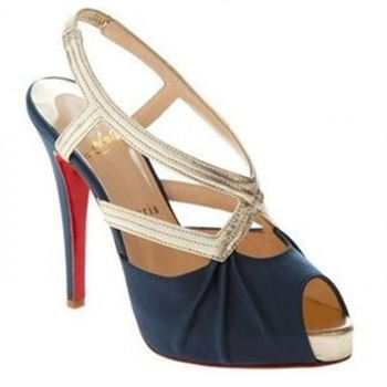 Christian Louboutin Angela 120mm Slingbacks Blue
