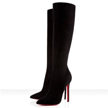 Christian Louboutin Pigalle Botta 120mm Boots Black