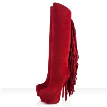 Christian Louboutin Interlopa 160mm Boots Moroccan Red