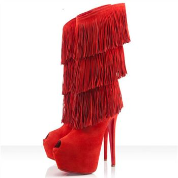 Christian Louboutin Highness Tina 160mm Boots Red