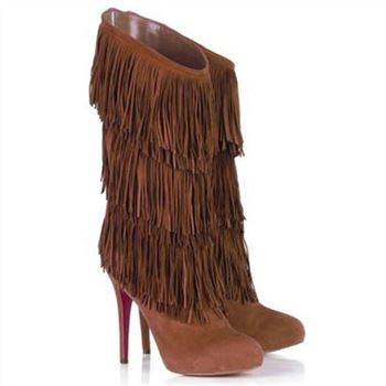 Christian Louboutin Forever Tina 140mm Boots Brown