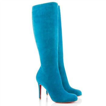 Christian Louboutin Simple Botta 100mm Boots Blue