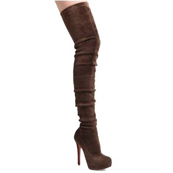 Christian Louboutin Gazolina 140mm Boots Brown