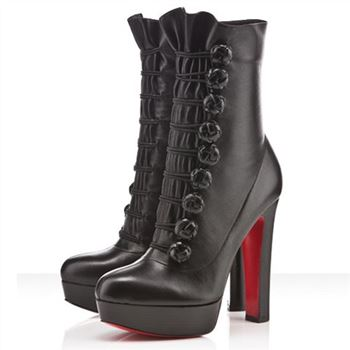 Christian Louboutin Chasseresse 140mm Boots Black