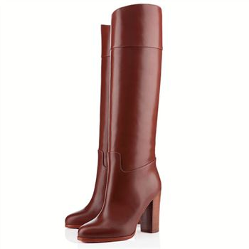 Christian Louboutin Dartata 80mm Boots Chocolate