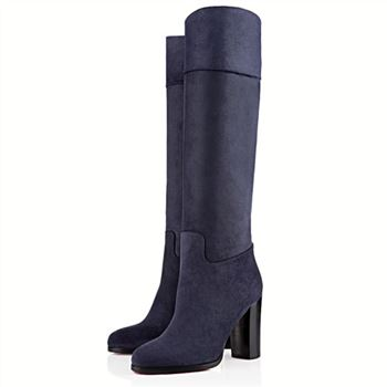 Christian Louboutin Dartata 80mm Boots Navy