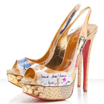 Christian Louboutin Winter Trash 140mm Slingbacks Multicolor