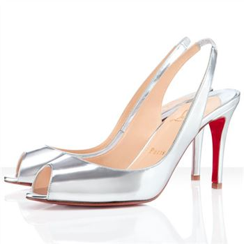 Christian Louboutin You You 80mm Slingbacks Silver