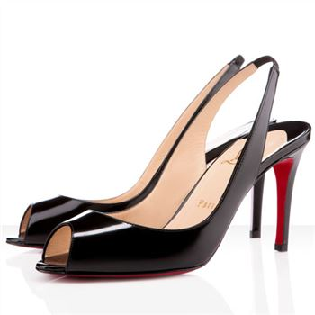 Christian Louboutin You You 80mm Slingbacks Black