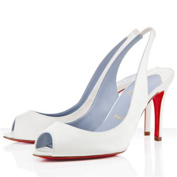 Christian Louboutin You You 80mm Slingbacks White