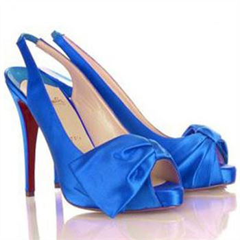 Christian Louboutin Very Noeud 120mm Slingbacks Blue