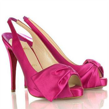 Christian Louboutin Very Noeud 120mm Slingbacks Rose Matador