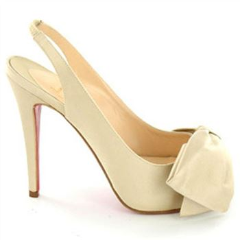 Christian Louboutin Very Noeud 120mm Slingbacks Beige