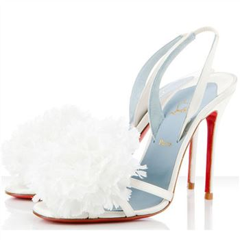 Christian Louboutin Tsarouchi 100mm Slingbacks White