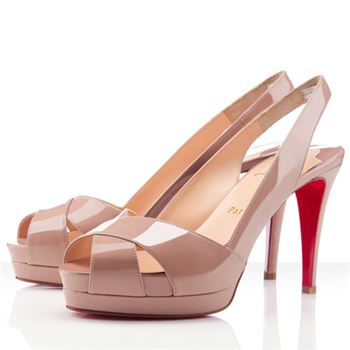 Christian Louboutin Soso 120mm Slingbacks Nude