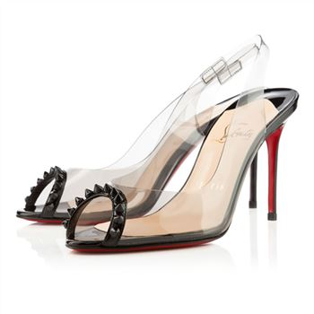 Christian Louboutin Ring My Toe 80mm Slingbacks Black