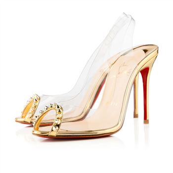 Christian Louboutin Ring My Toe 80mm Slingbacks Gold
